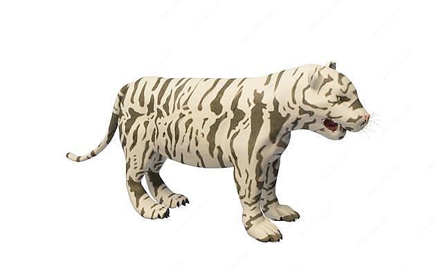 白虎3D模型