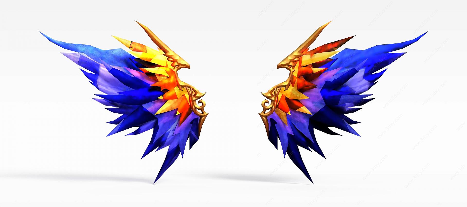 游戲高級裝備藍色水晶翅膀