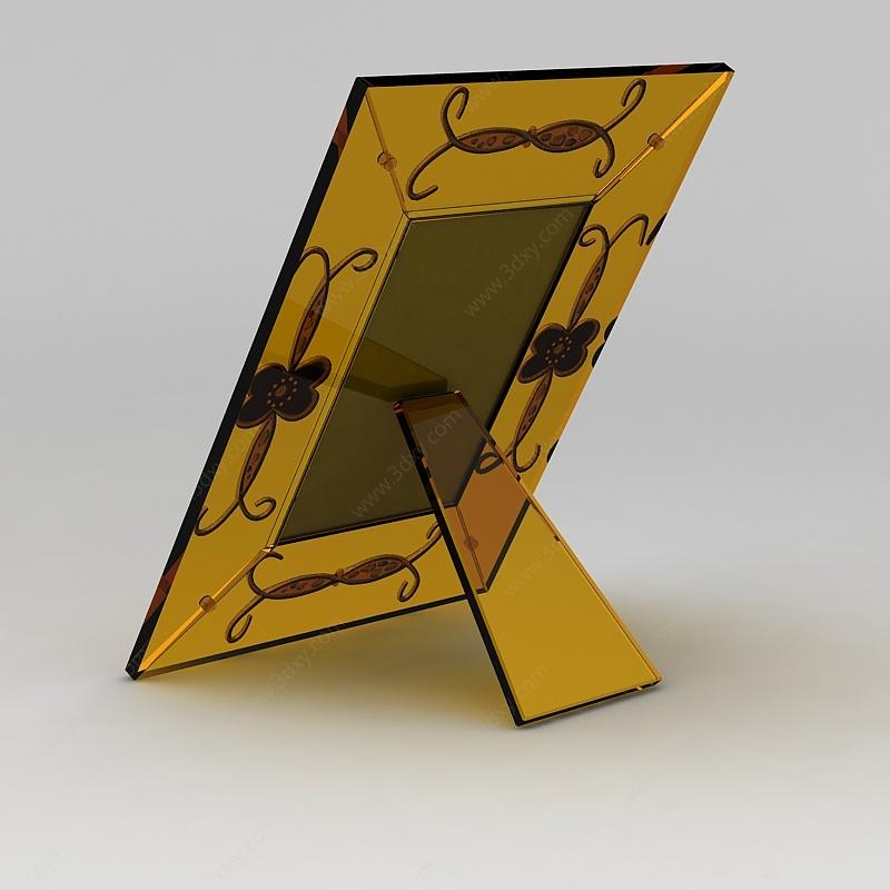 黃色玻璃相框3D模型