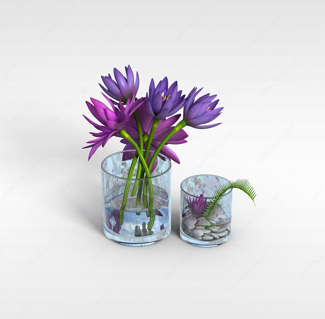 水養花卉3D模型