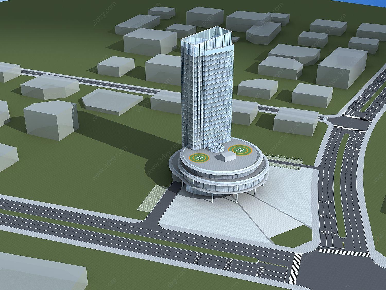 高級酒店大樓