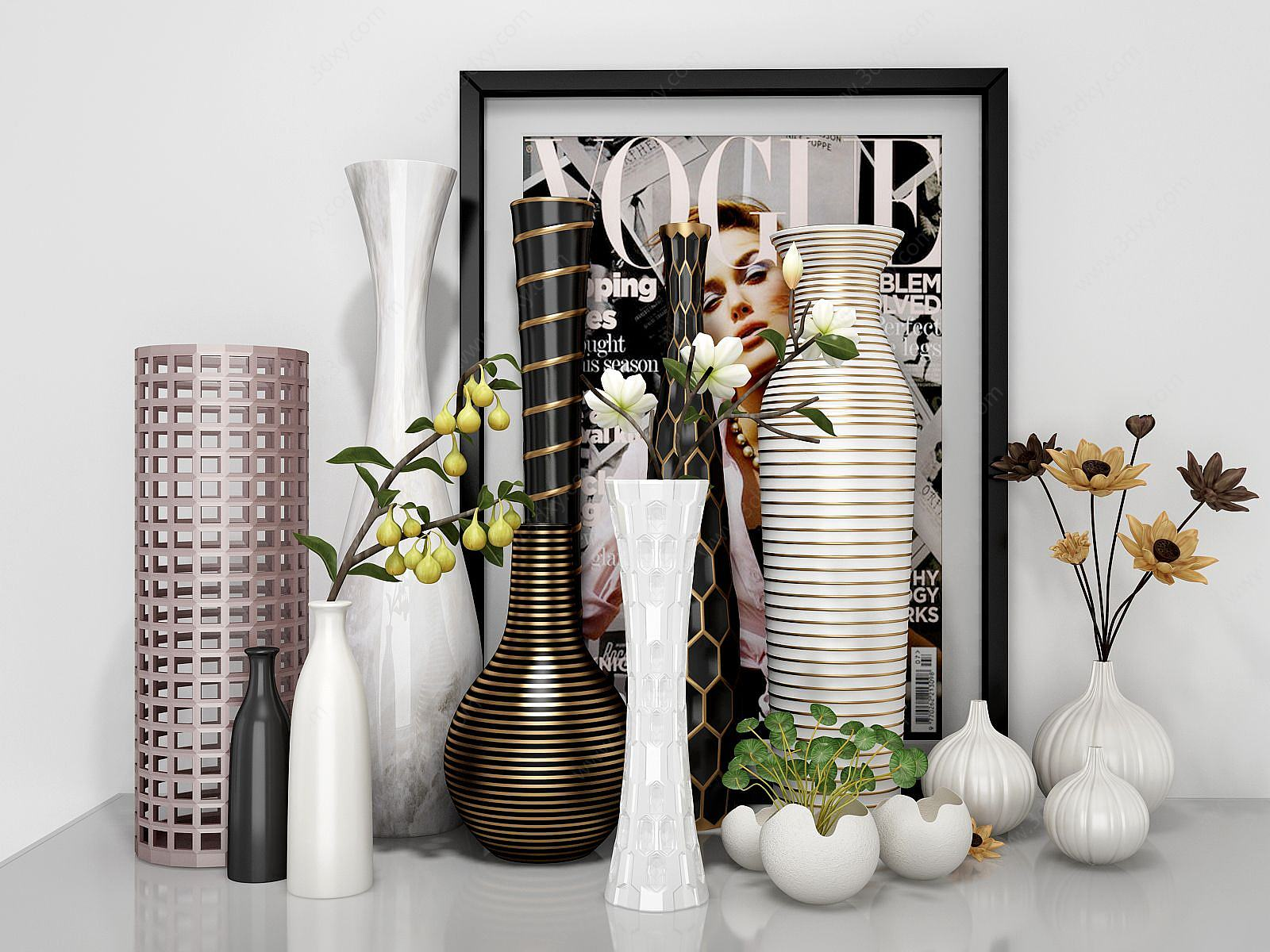 現代花瓶組合