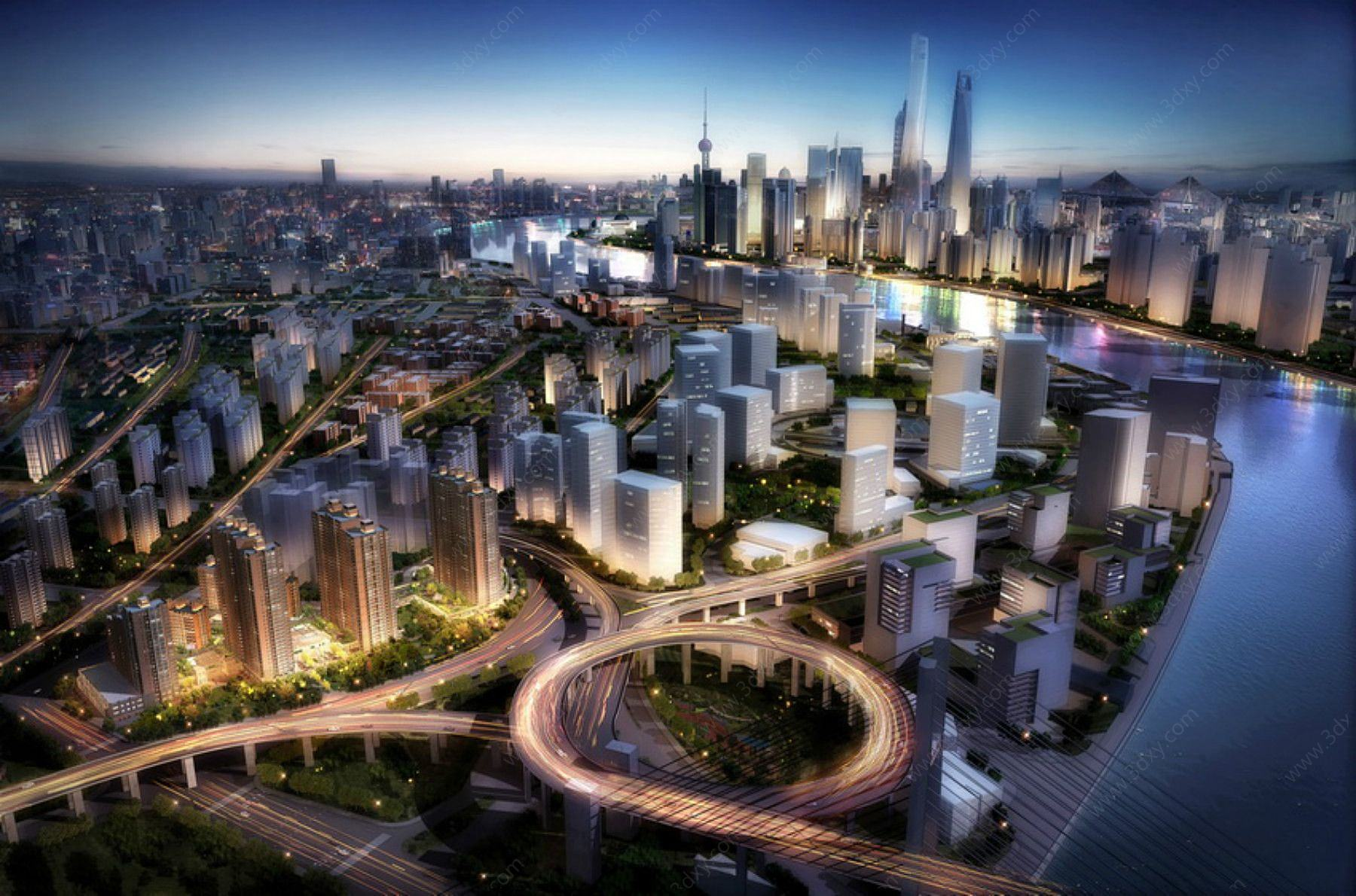上海規劃鳥瞰模型