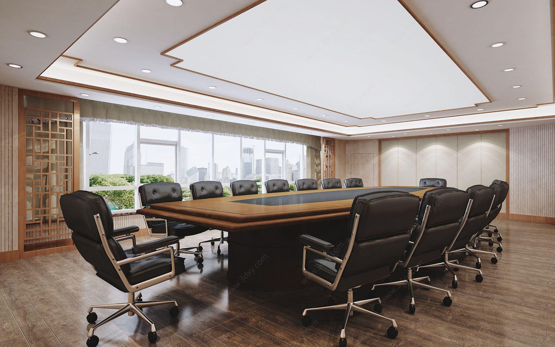 中式會議室