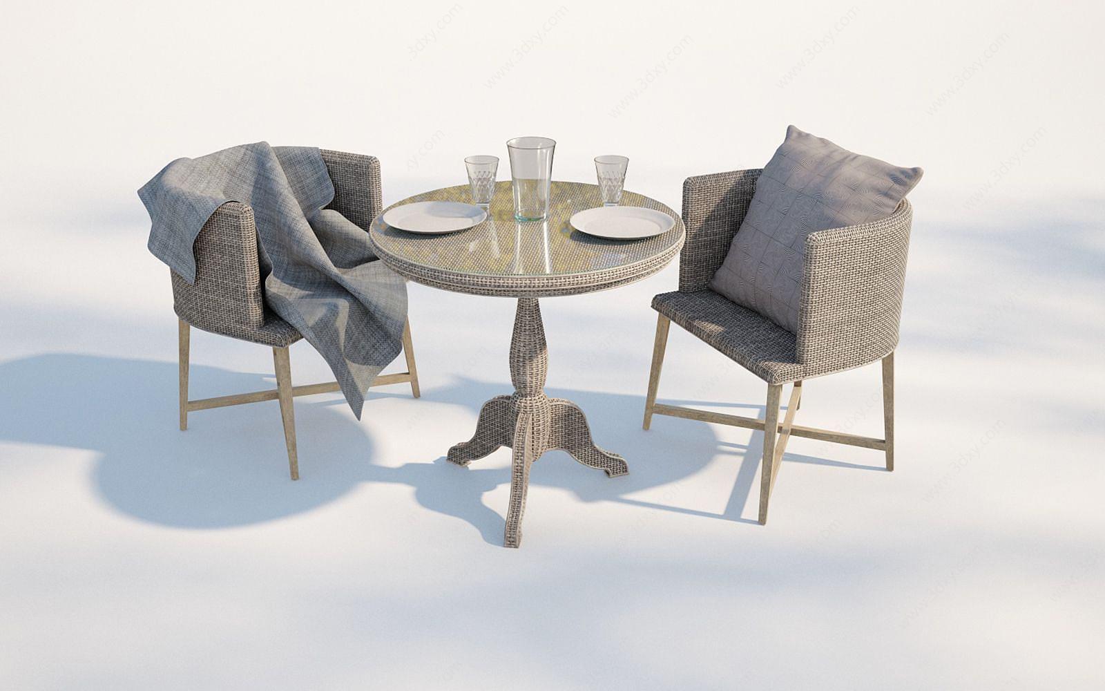 現代戶外藤編椅子