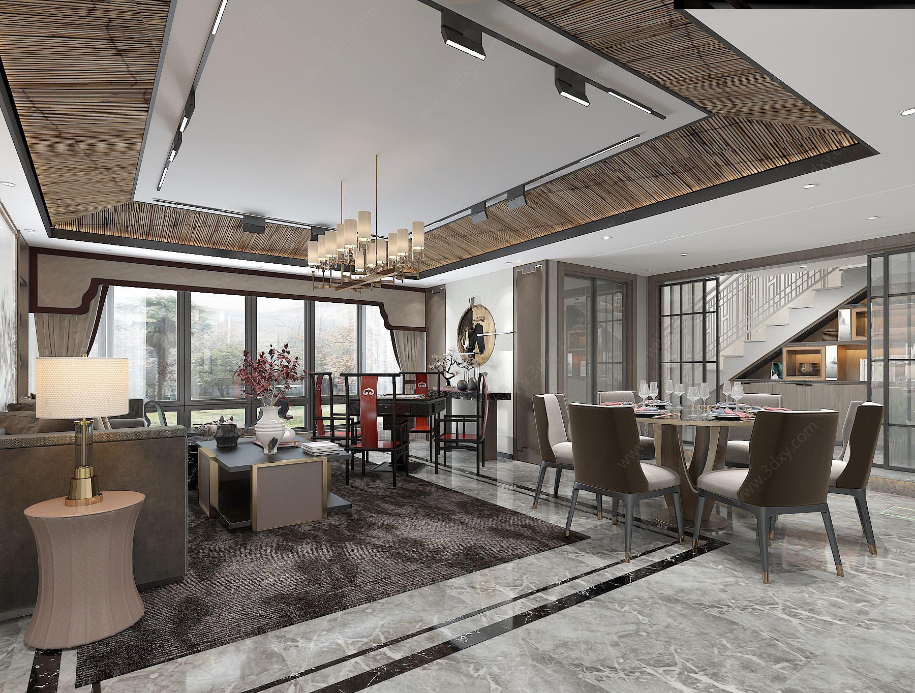 新中式別墅客餐