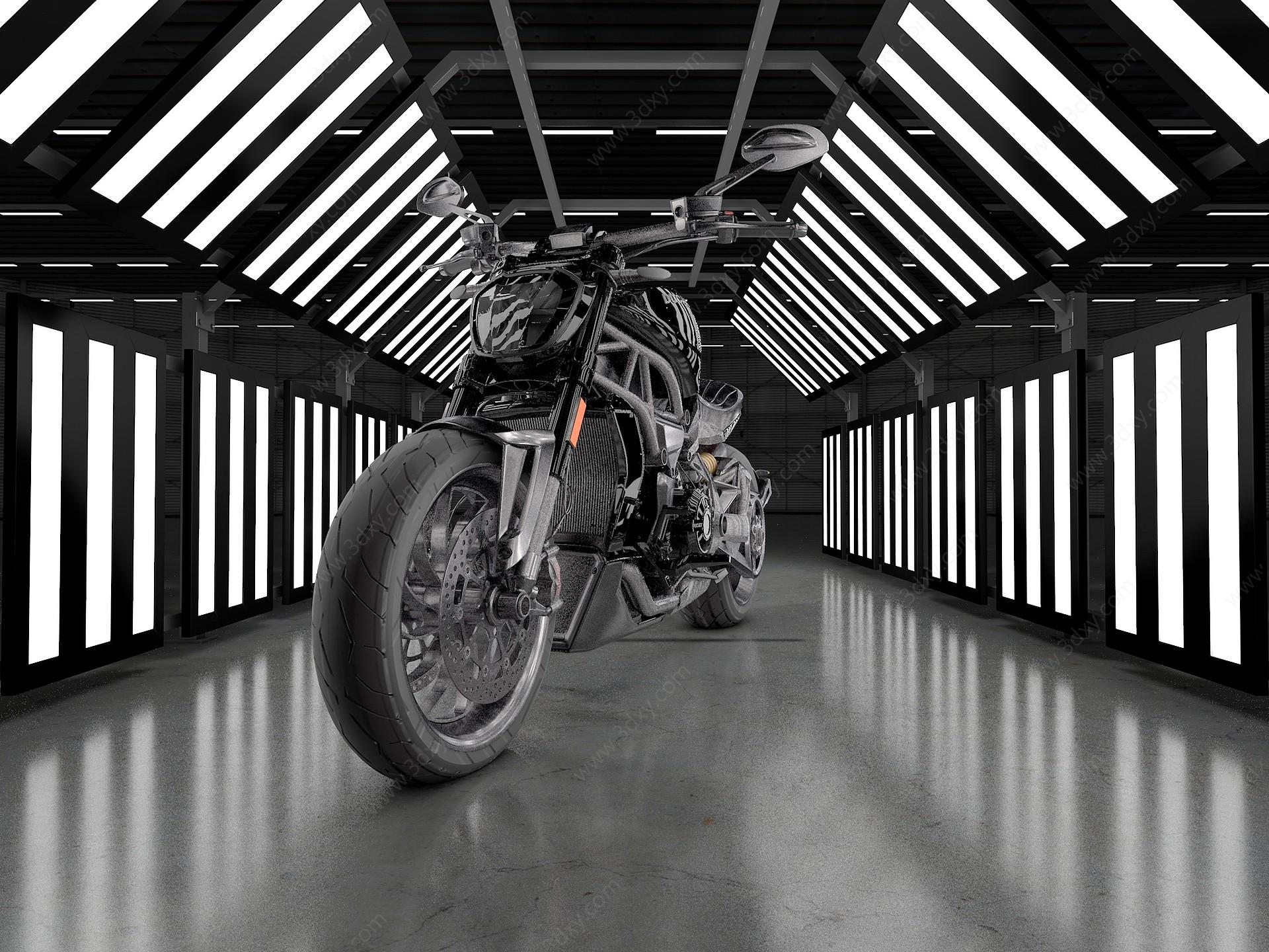 杜卡迪摩托車3D模型