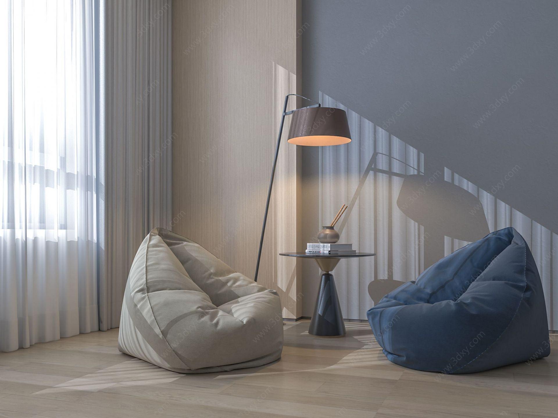 懶人沙發3D模型