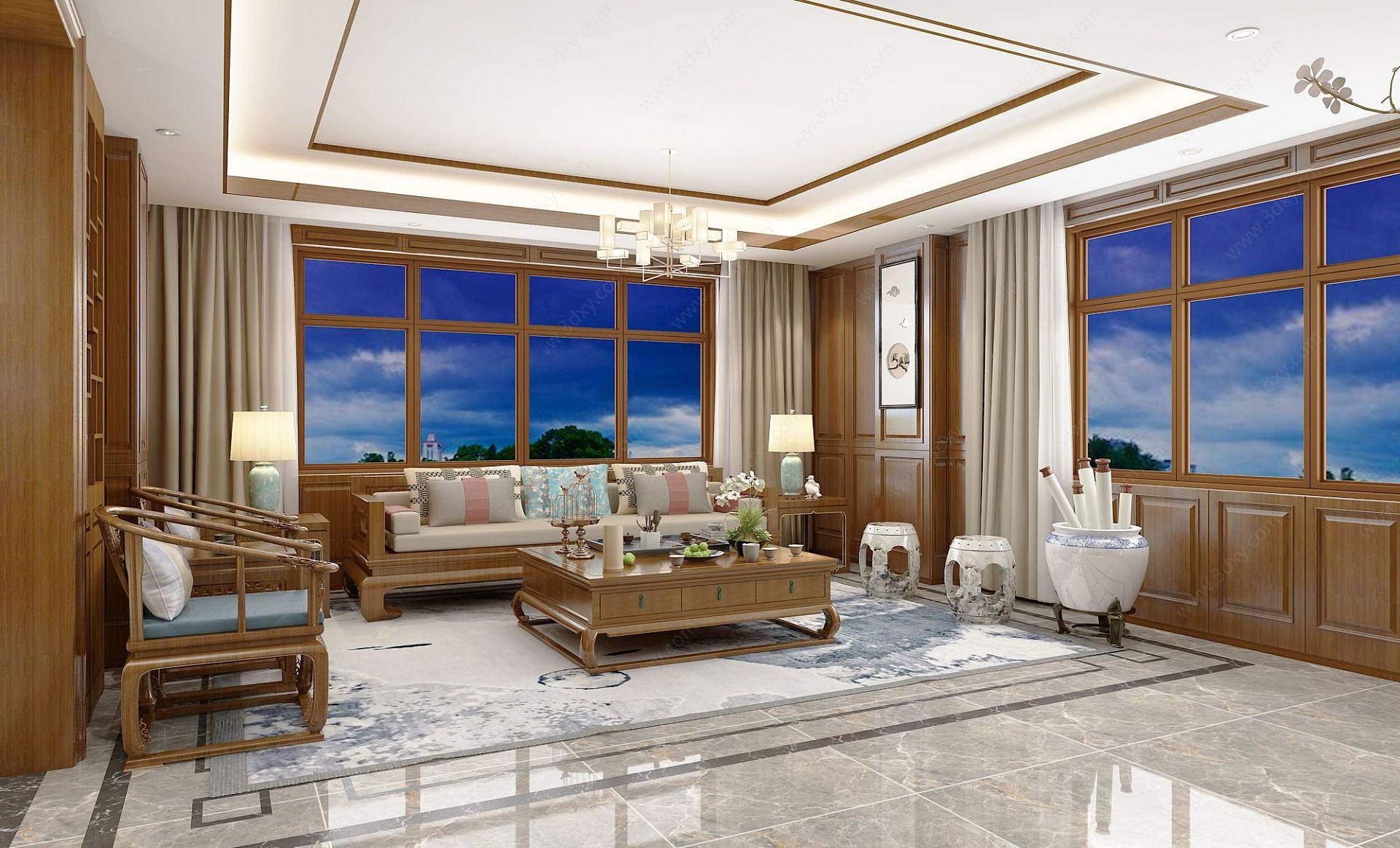 新中式客廳