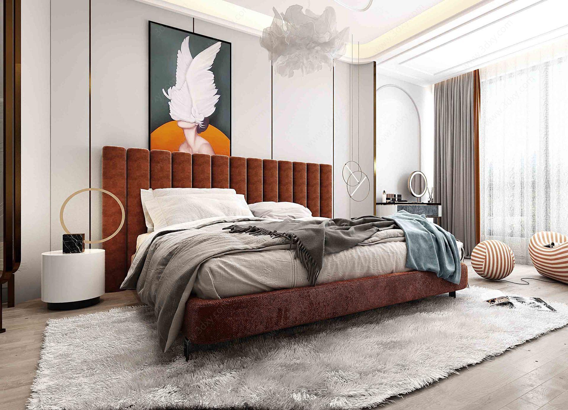 現代輕奢風格主臥室