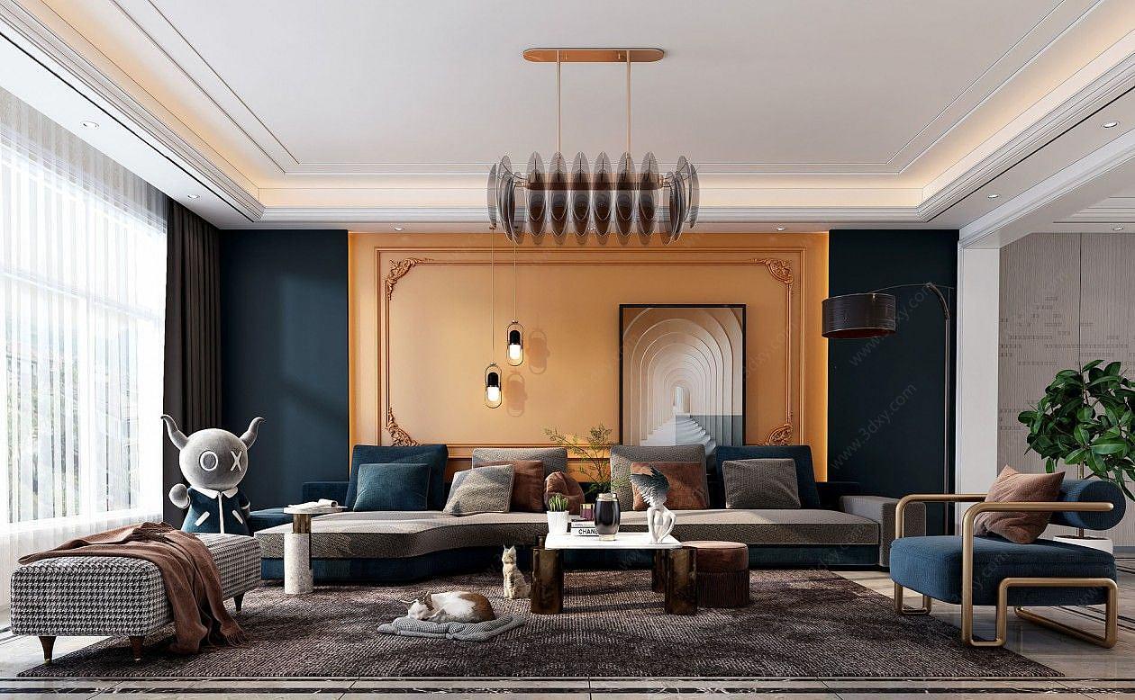 現代輕奢風格客廳