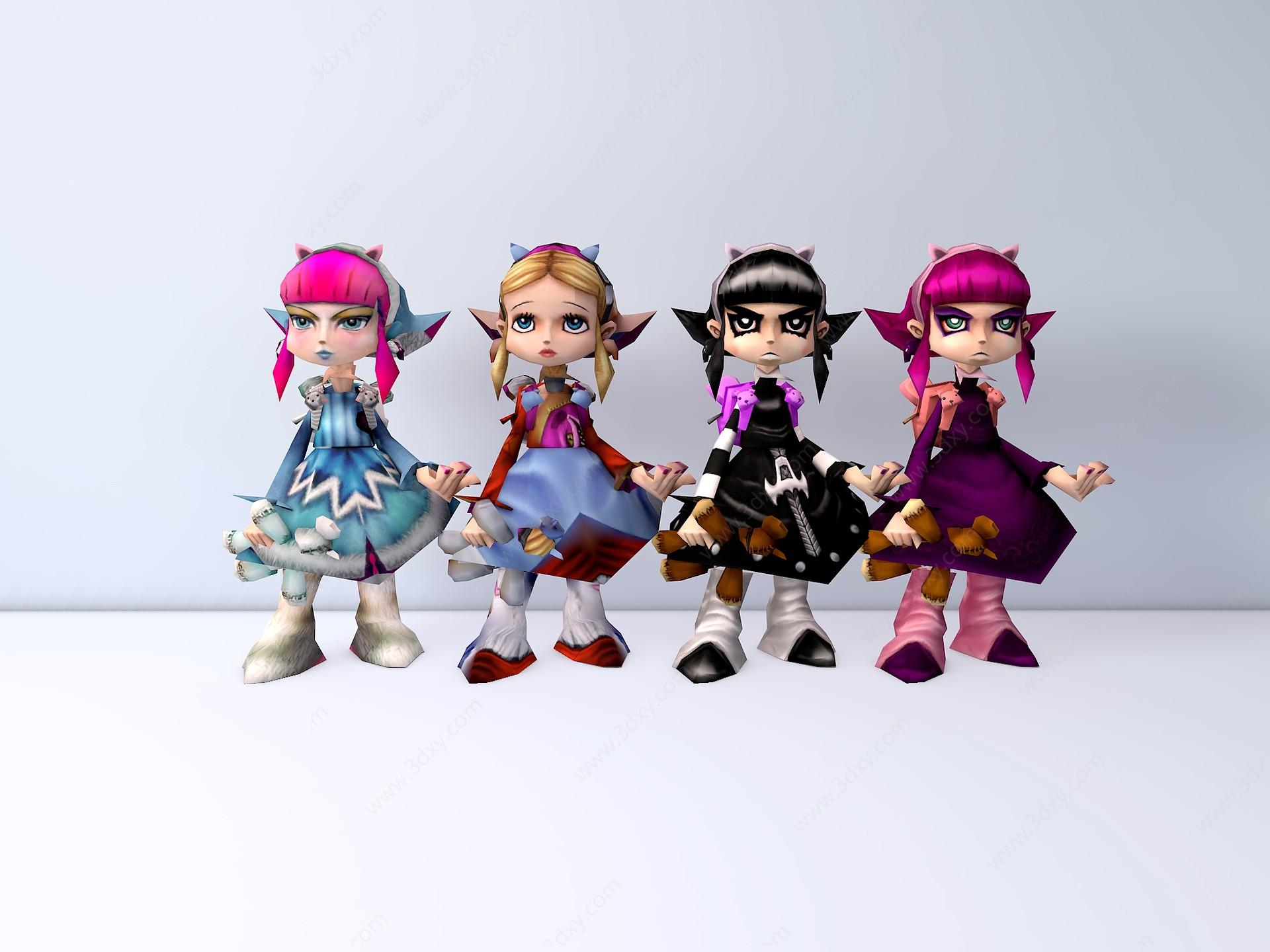 黑暗之女·安妮3D模型