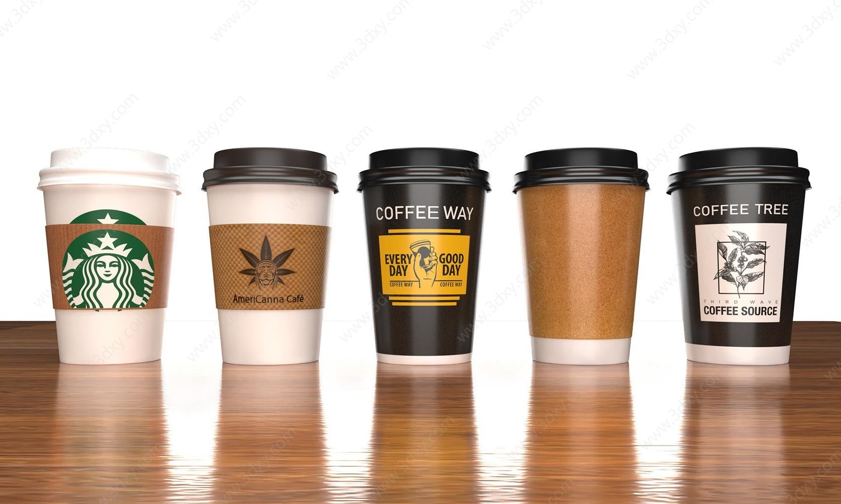 咖啡杯3D模型
