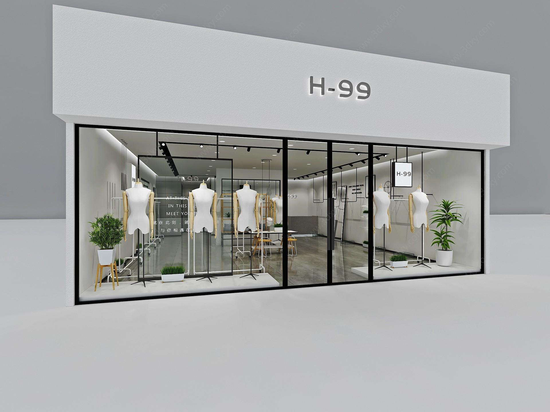 服裝店3D模型
