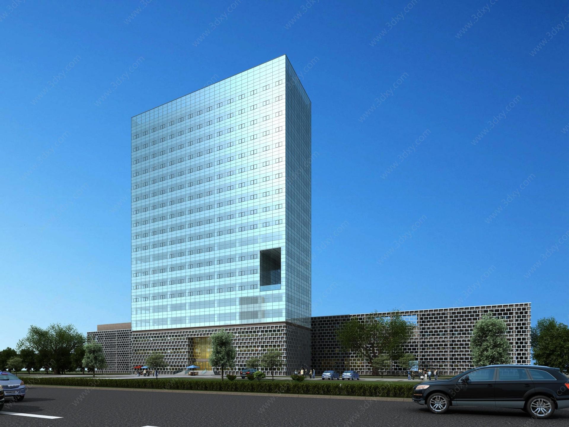 現代辦公樓公建3D模型