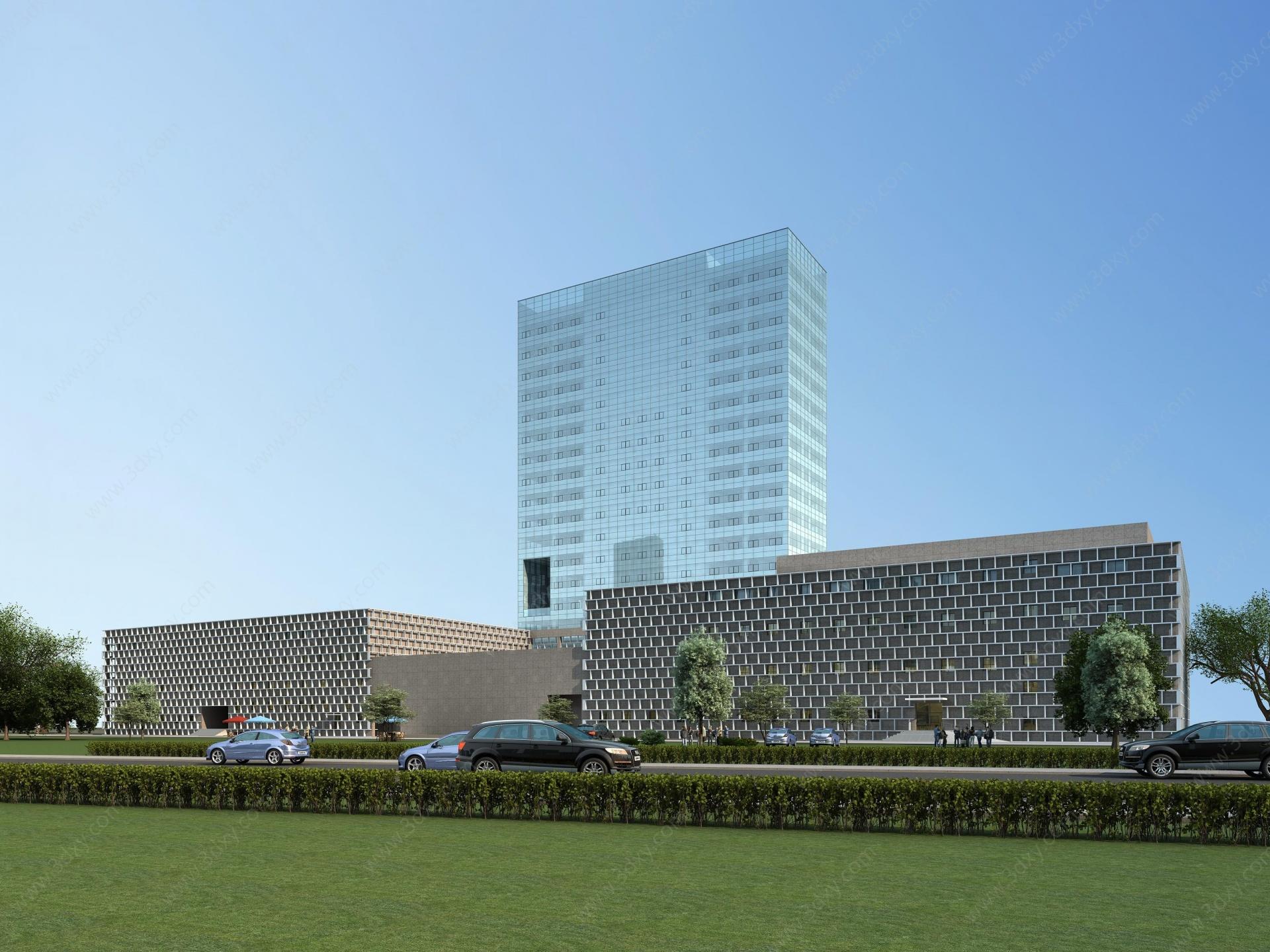 現代商場綜合樓3D模型