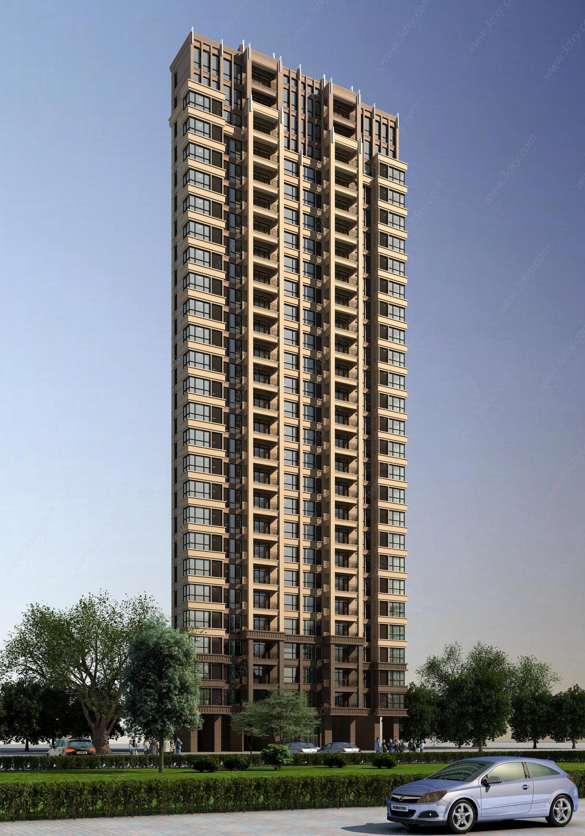 歐式住宅樓3D模型