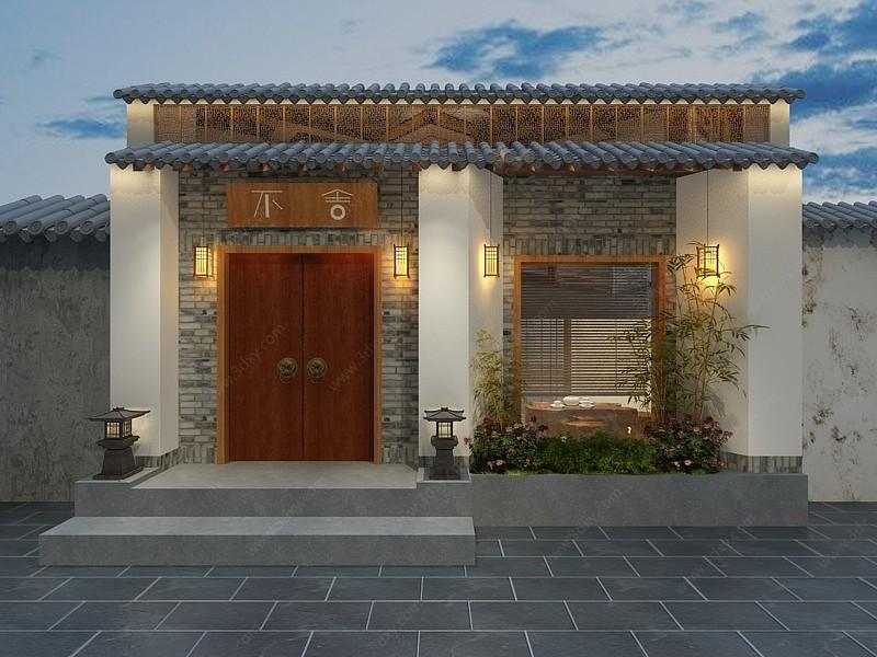 日式小院3D模型