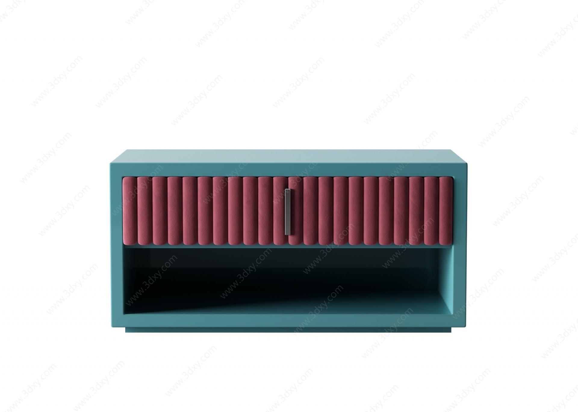 床頭柜3D模型