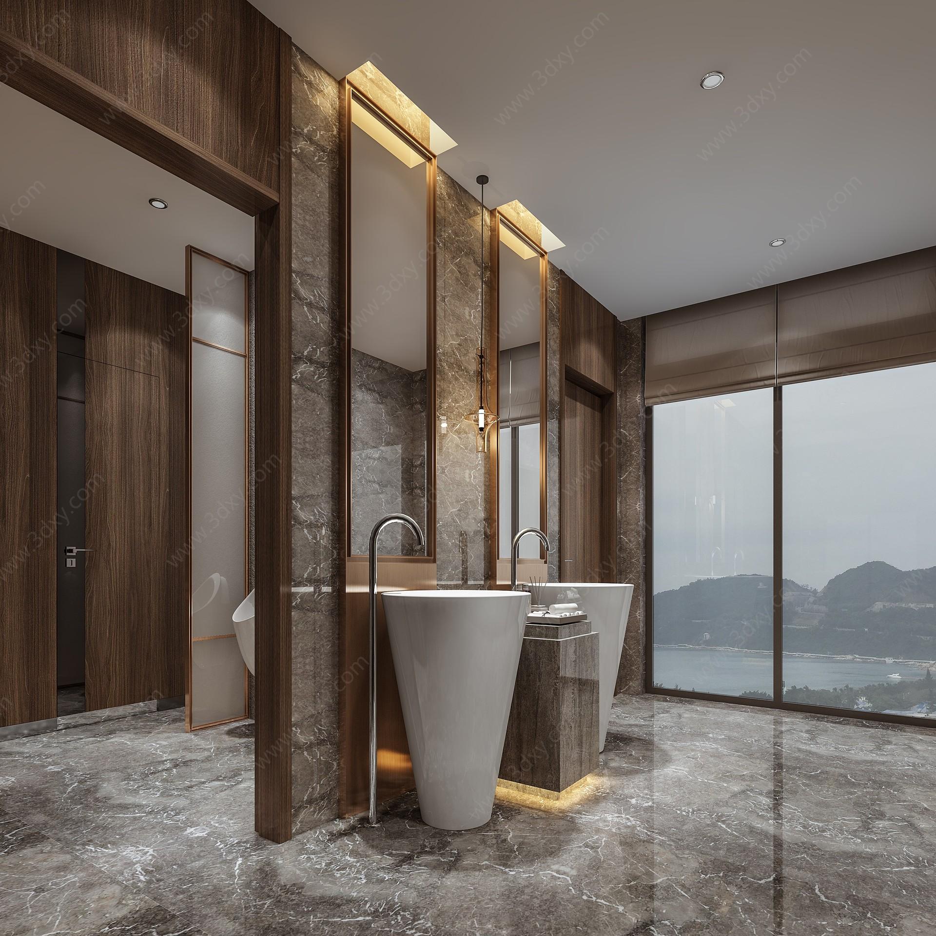 現代豪華衛生間3D模型