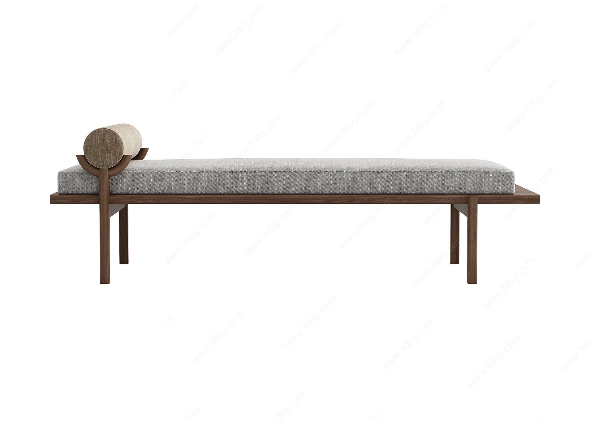 床榻3D模型