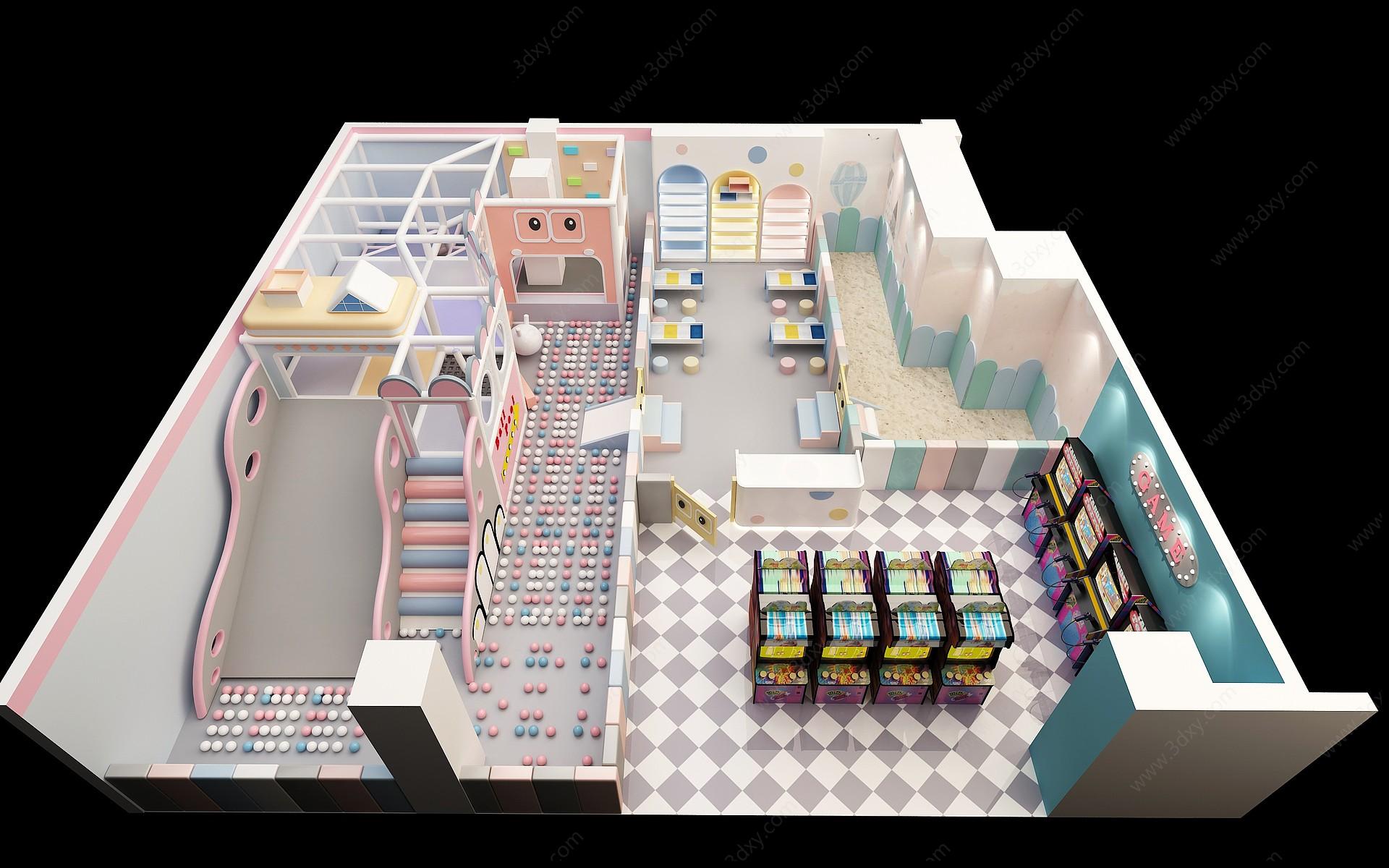 兒童游樂場3D模型