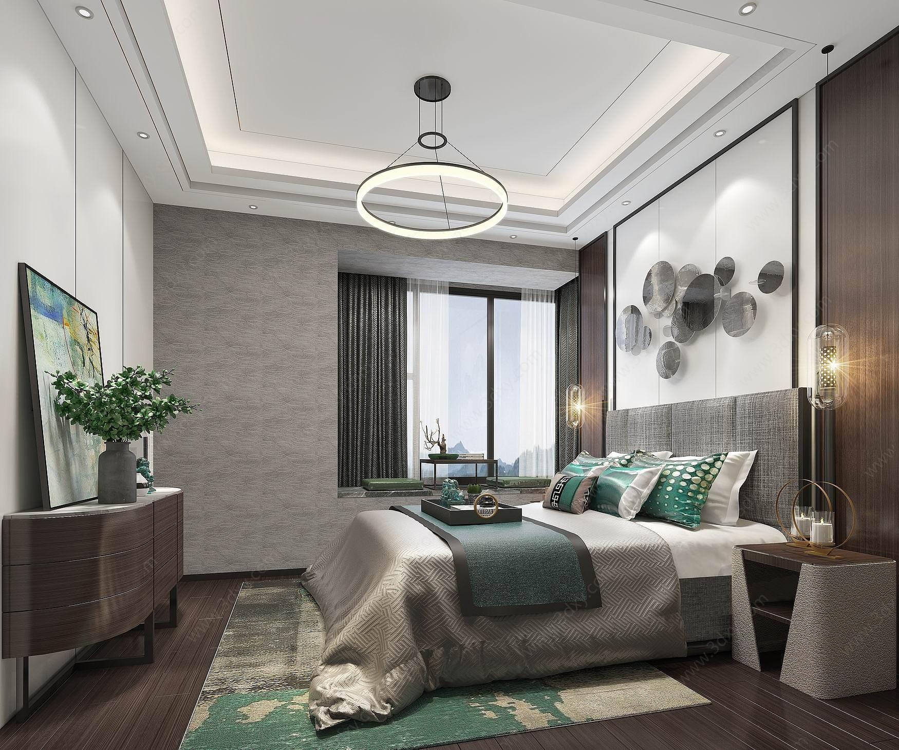 簡歐臥室3D模型