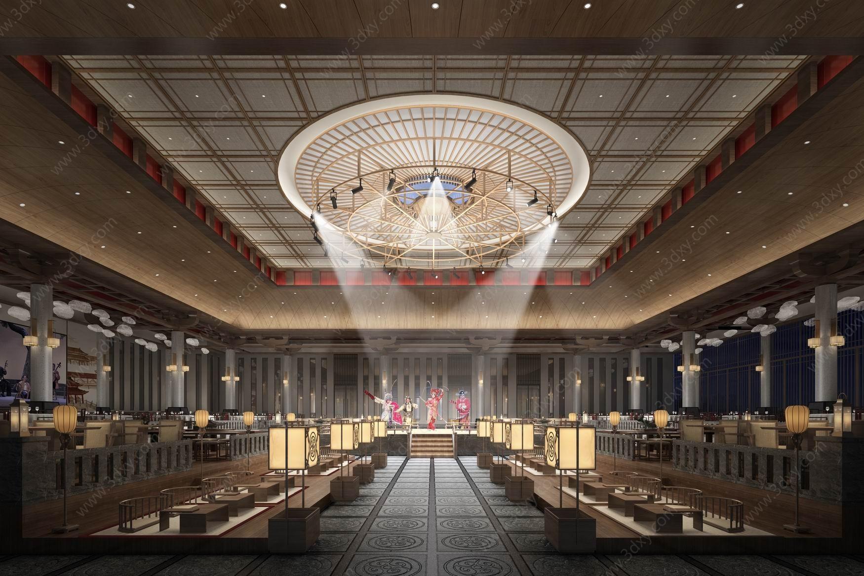 中式古典茶室3D模型
