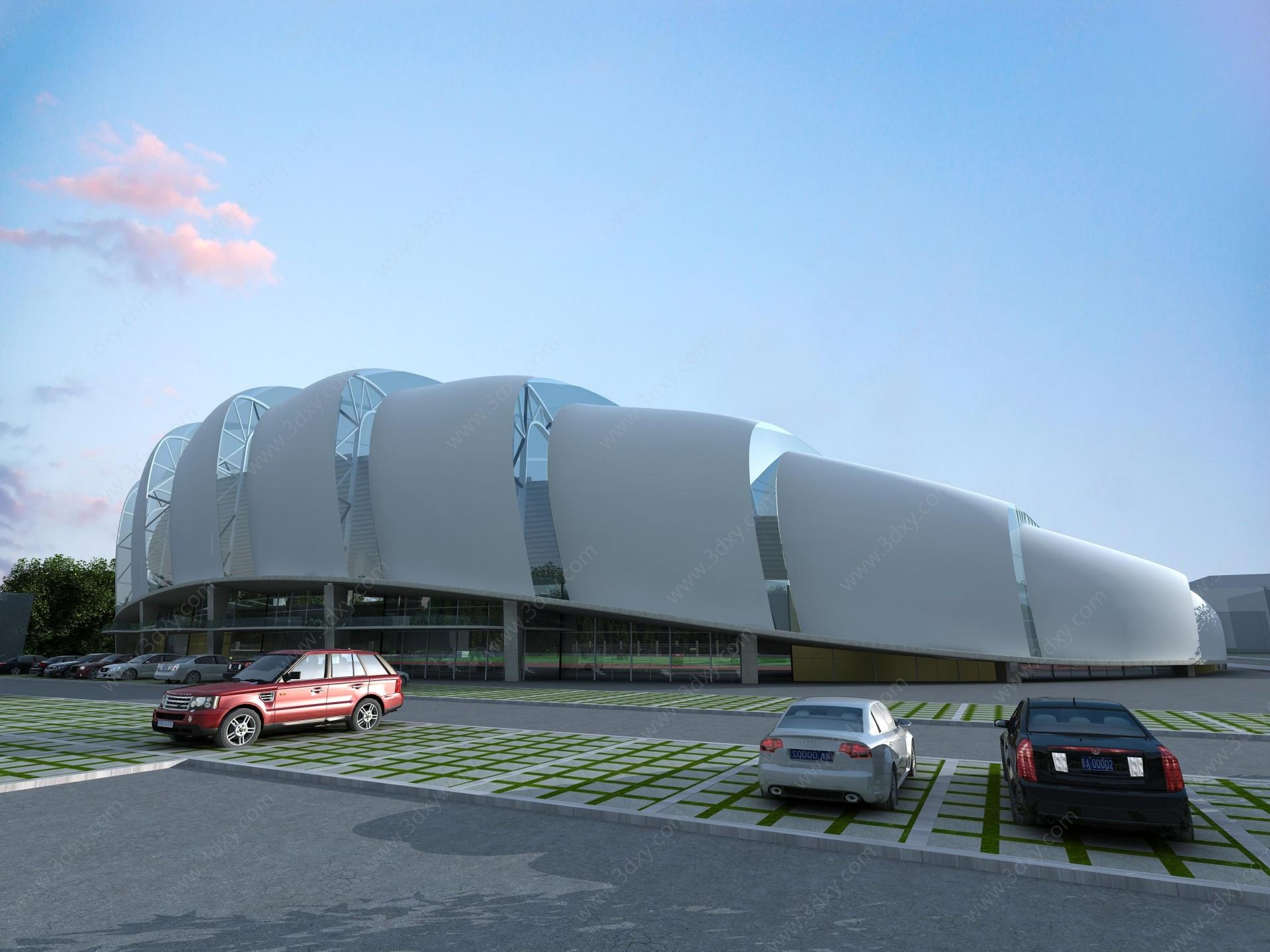 現代體育場看臺3D模型
