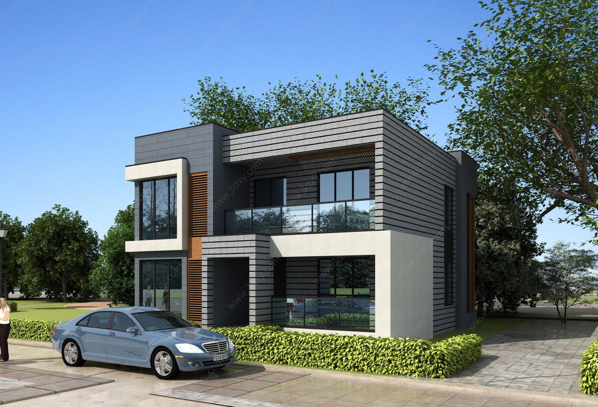 現代別墅3D模型