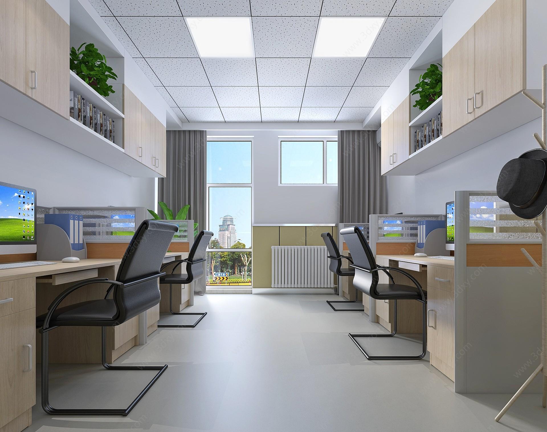 學校辦公室3D模型