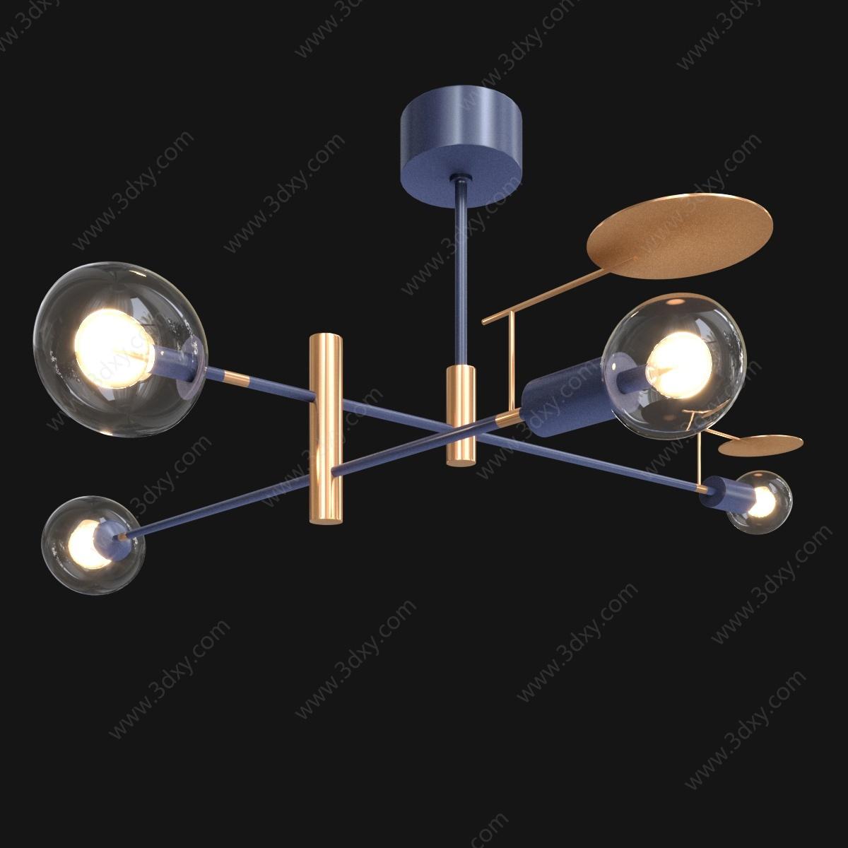 意大利T燈泡吊燈3D模型