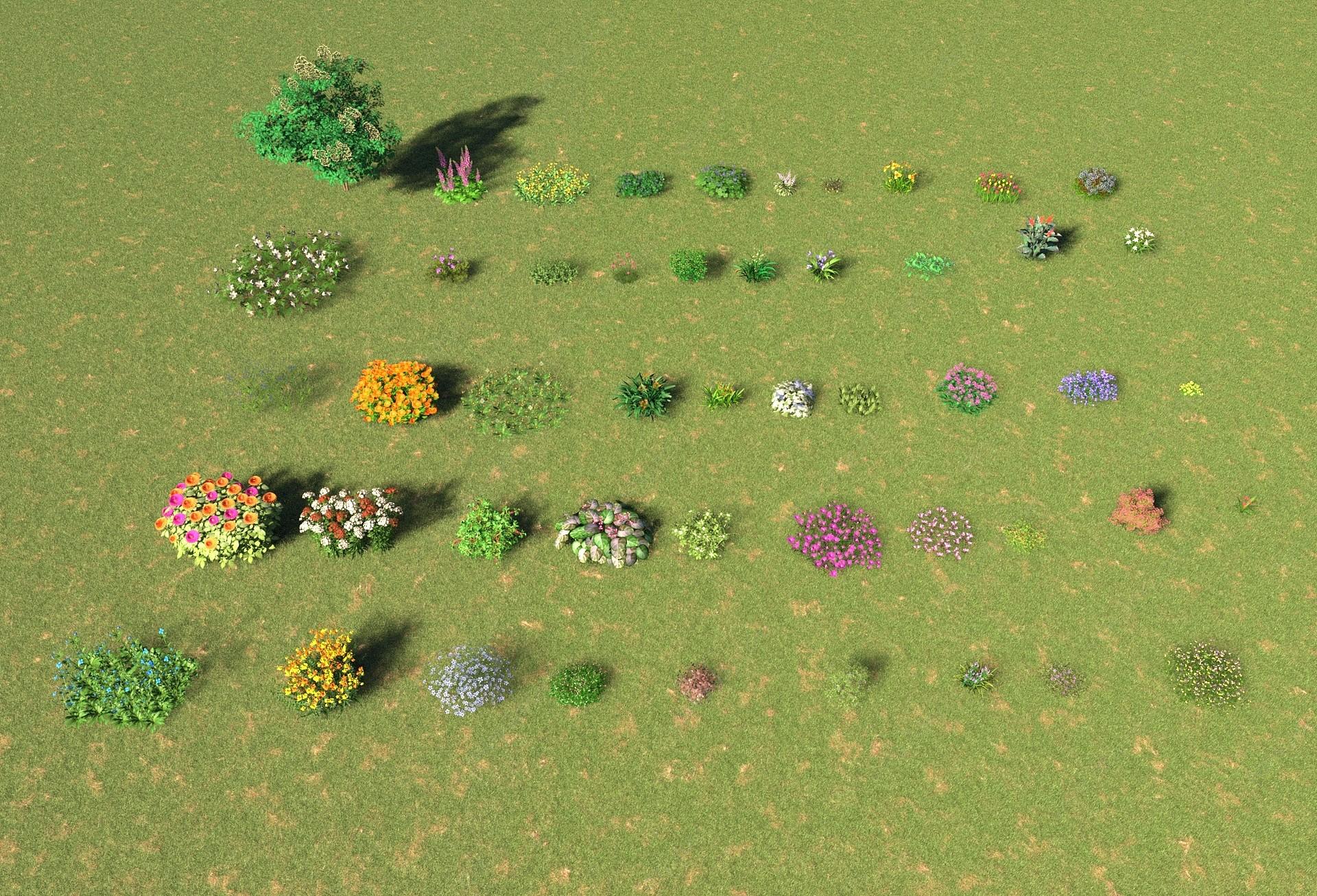 灌木花草3D模型