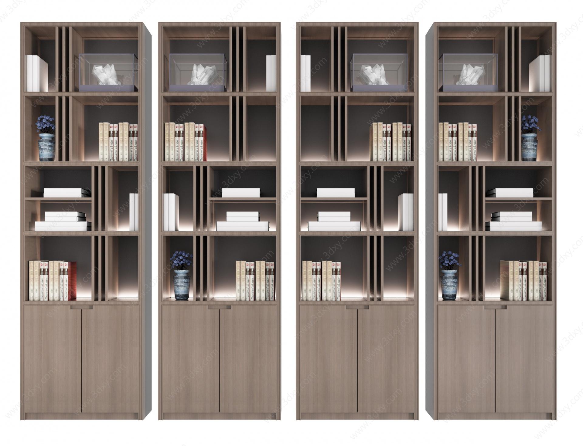 新中式裝飾柜二3D模型