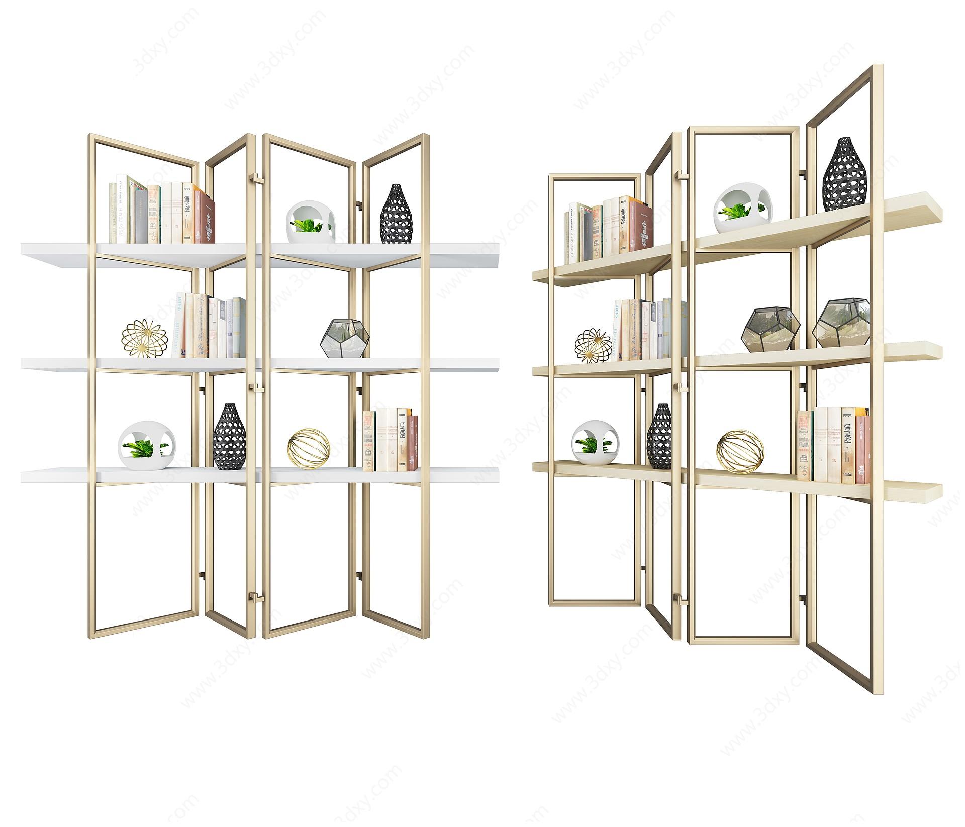 書架五3D模型