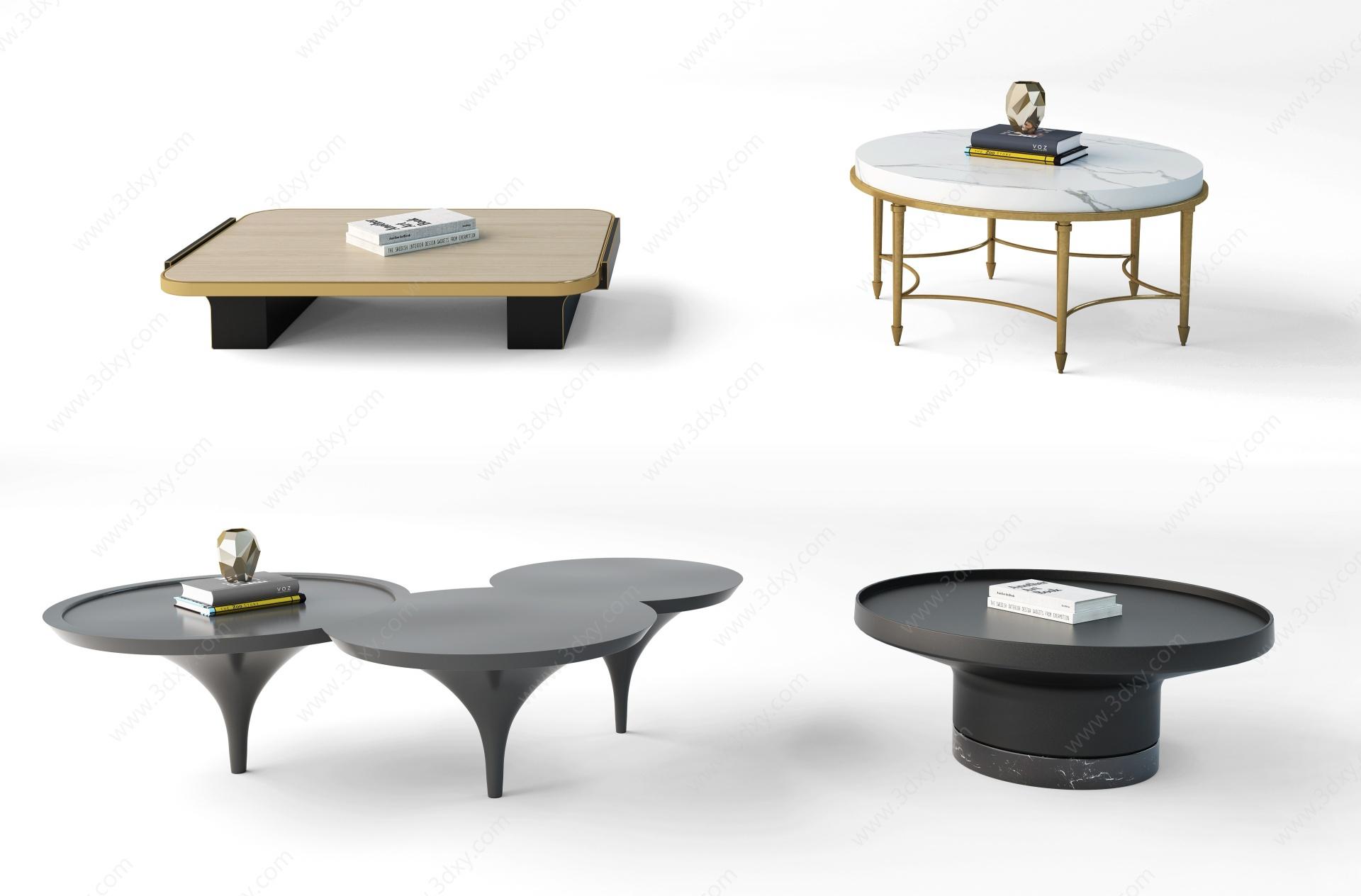 現代茶幾3D模型
