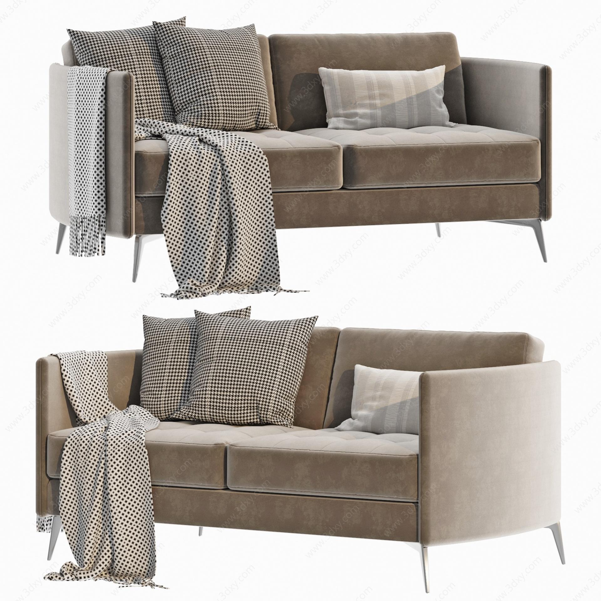 意大利Arflex現代雙人沙發3D模型