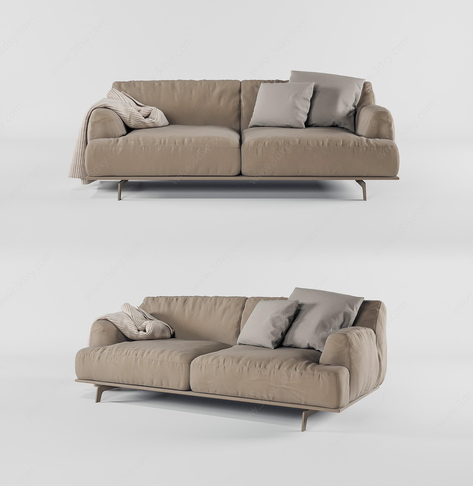 現代雙人沙發3D模型