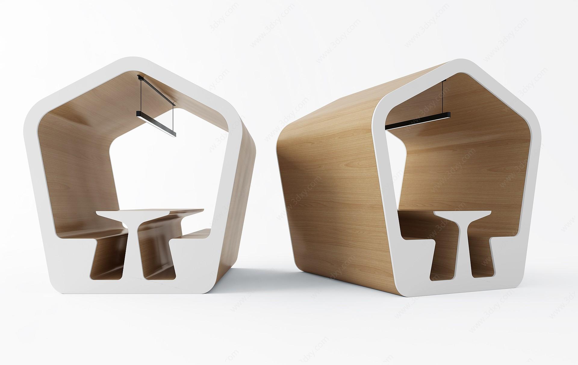 休閑小亭3D模型