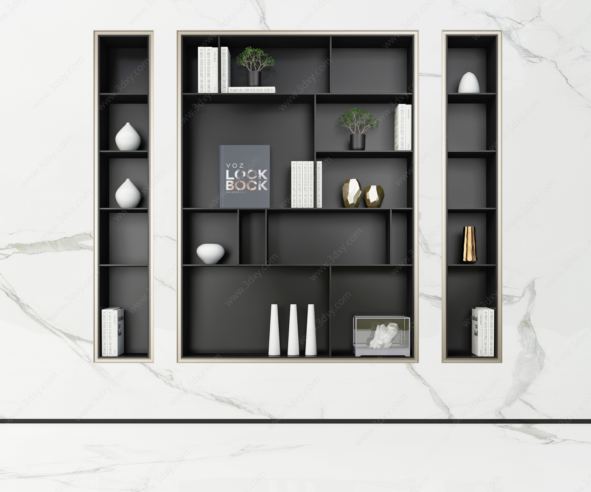 現代書柜3D模型