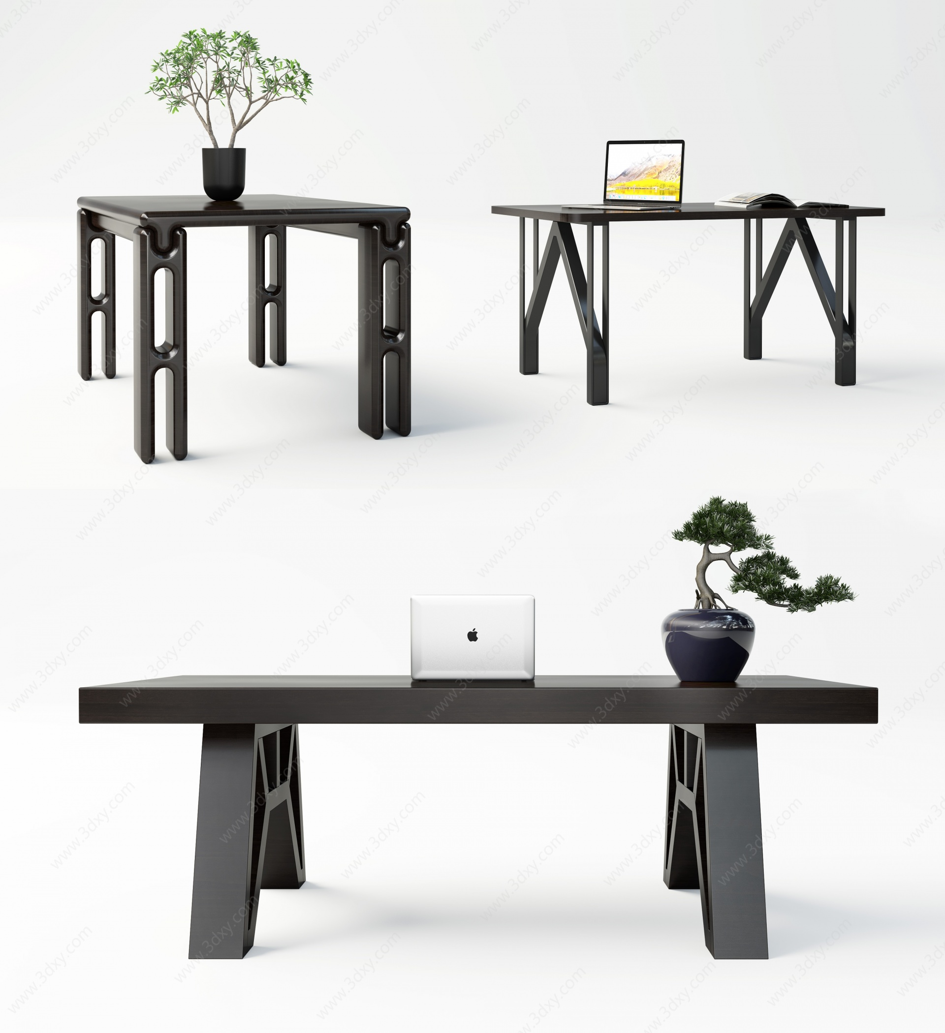 現代休閑桌3D模型