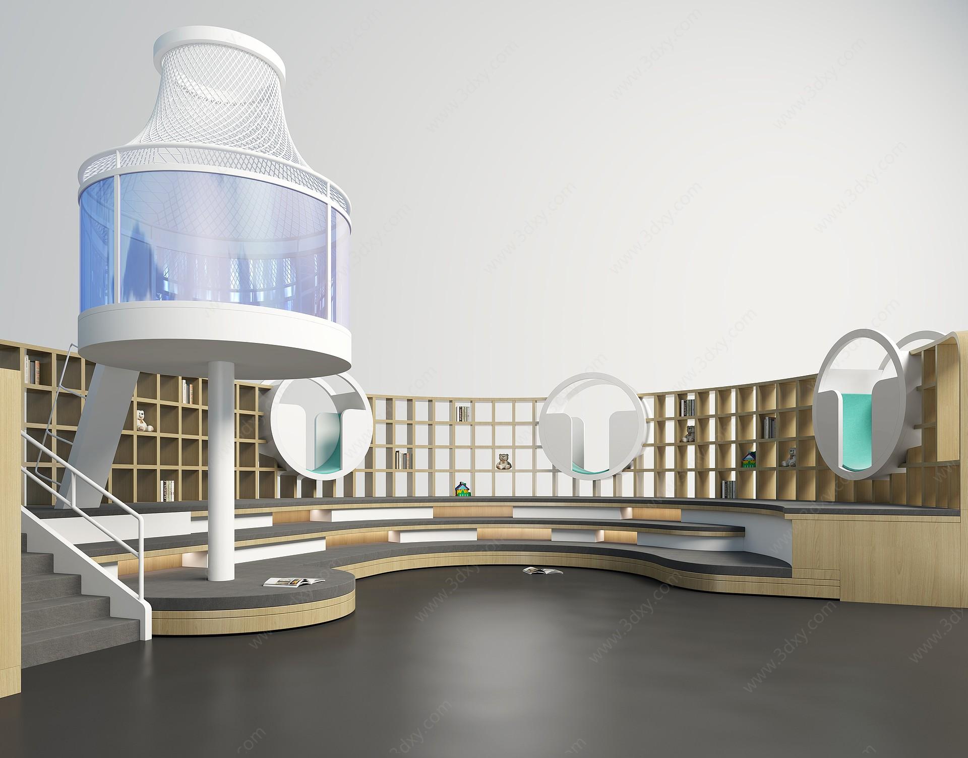 現代兒童娛樂區3D模型