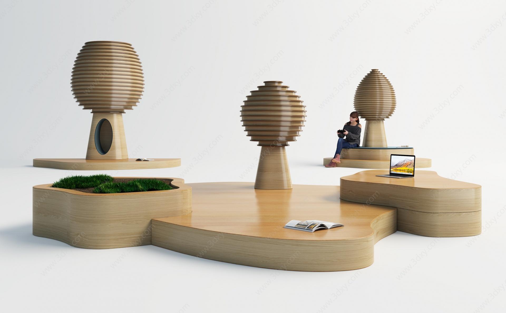 現代兒童游樂區3D模型