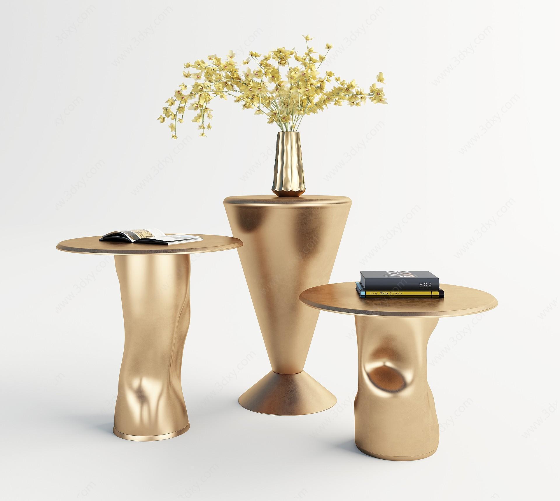 現代個性茶幾組合3D模型