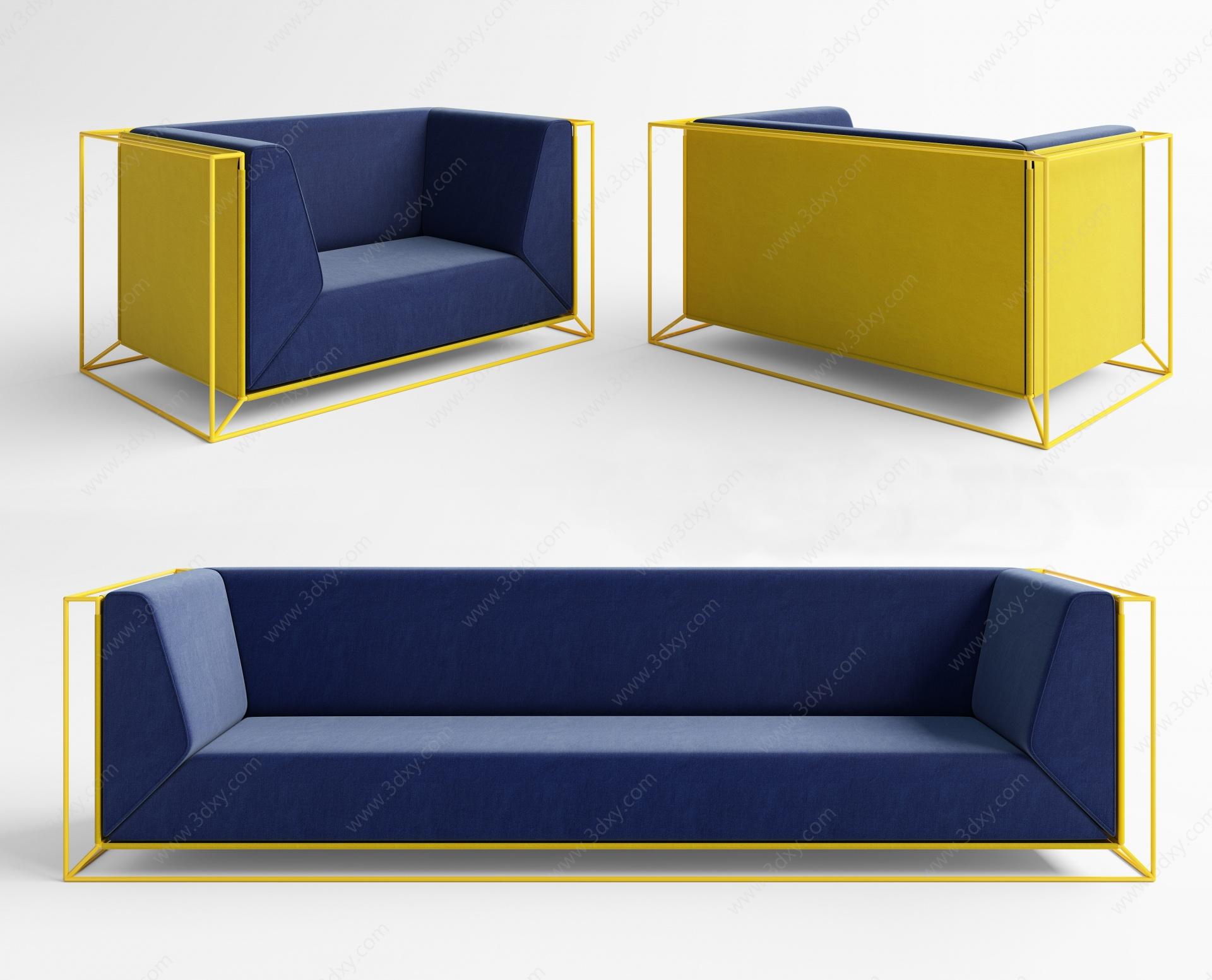 現代現代沙發3D模型
