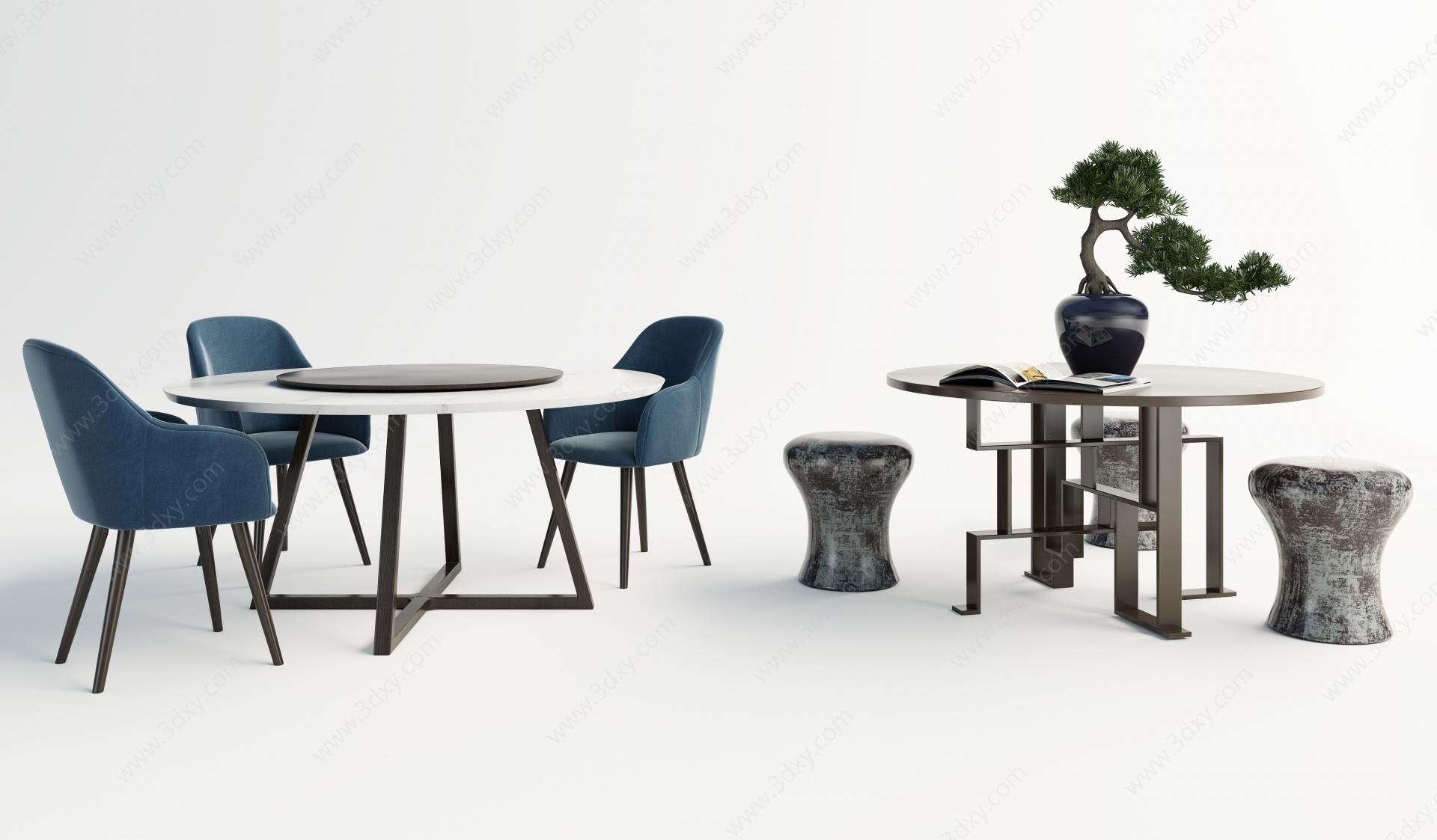 現代圓桌3D模型