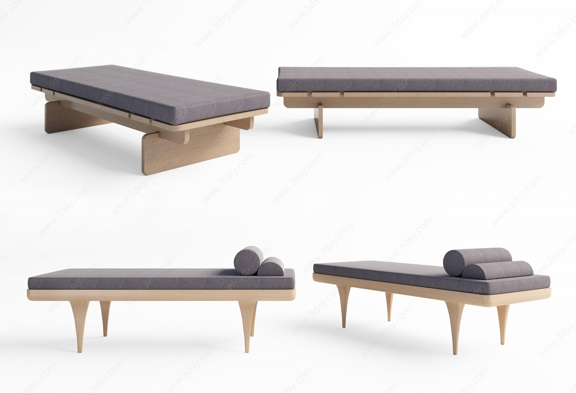 床尾凳3D模型
