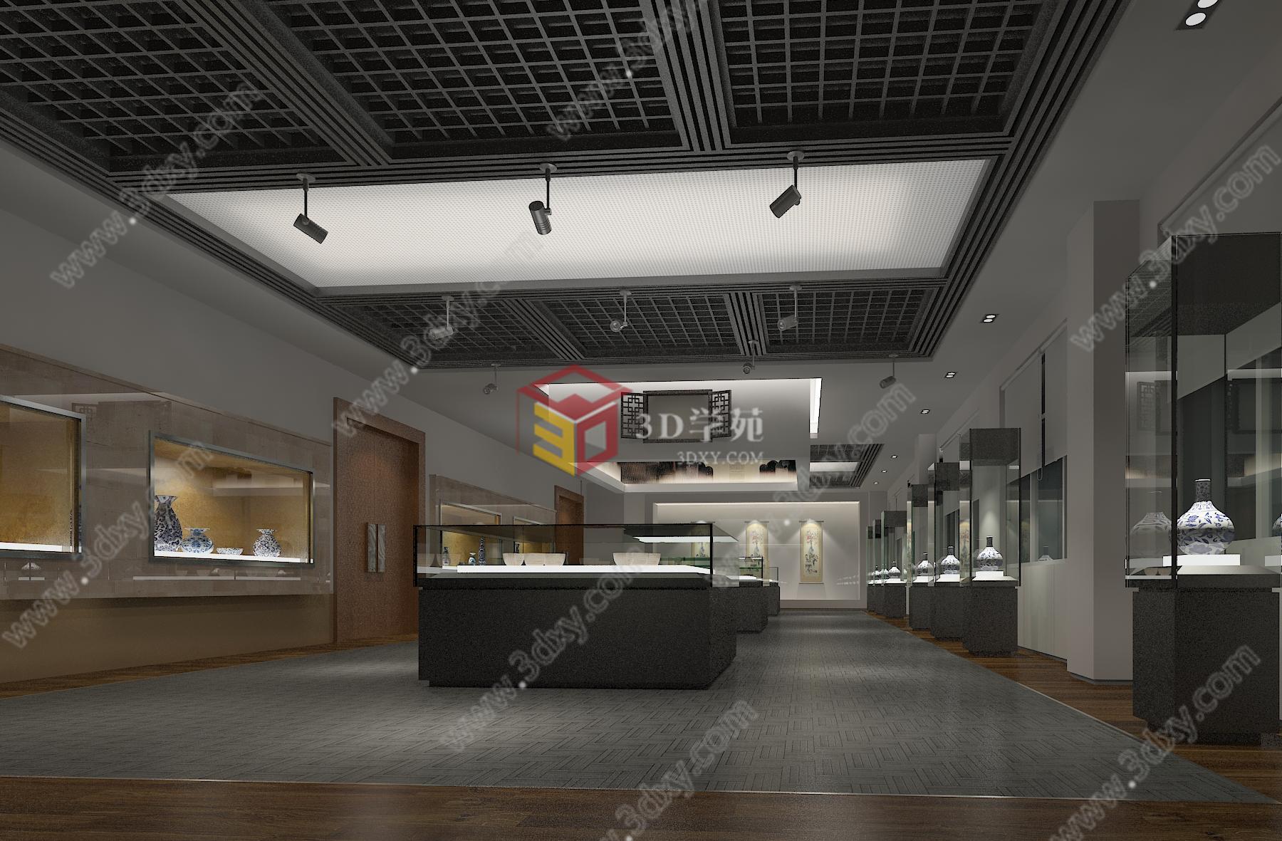 瓷器展展览模型下载  关键词:瓷器展展览模型陶器展览模型青花瓷展览图片