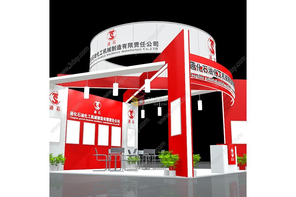 石油化工机械展厅展览模型图片