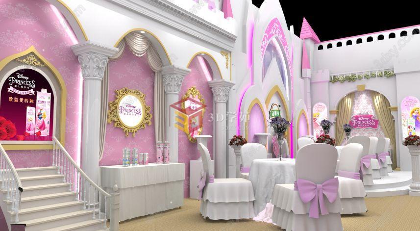 欧式城堡婚礼主题展位展览模型